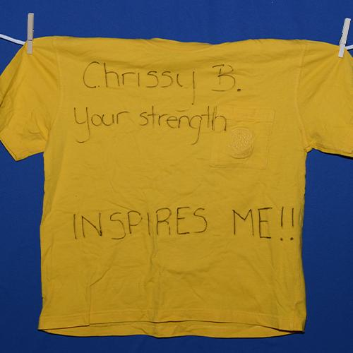 Chrissy B. your strength inspires me!!