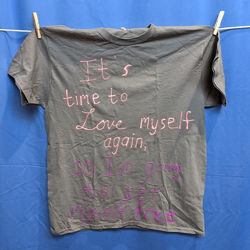 It's time to love myself again, so I'm going to set myself free.