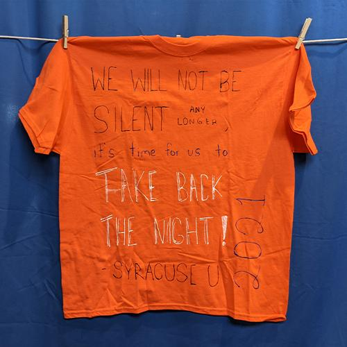 We will not be silent any longer, it's time for us to take back the night! – Syracuse U 2021