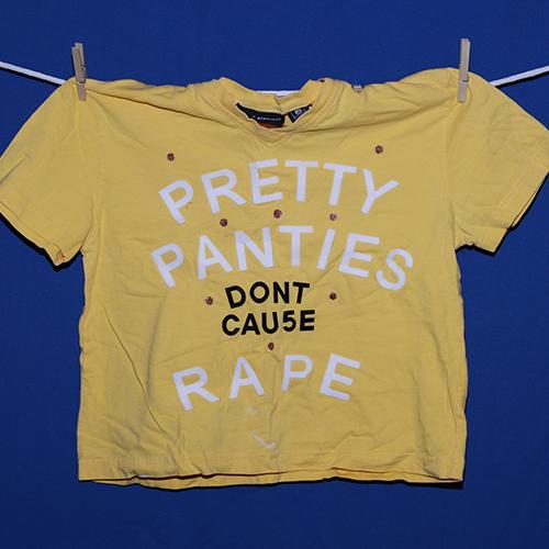 Pretty panties don't cause rape.