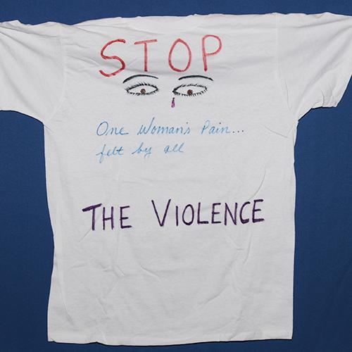 One woman's pain is felt by all. Stop the violence