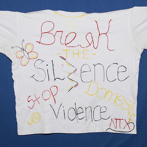Break the silence, stop domestic violence.
