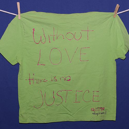 Without love there is no justice.