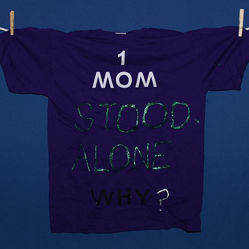 One mom stood alone. Why?