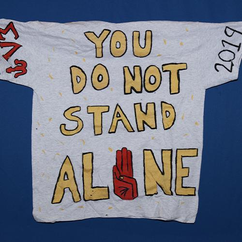 You do not stand alone.